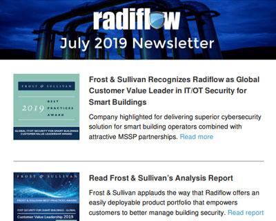 Radiflow Newsletter, July 2019