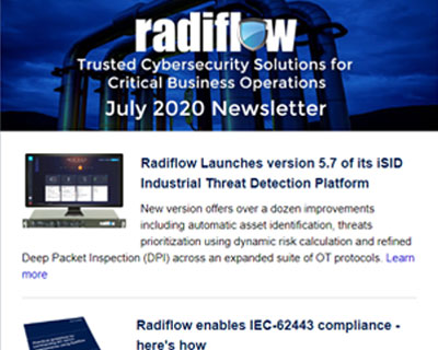 Radiflow Newsletter, July 2020