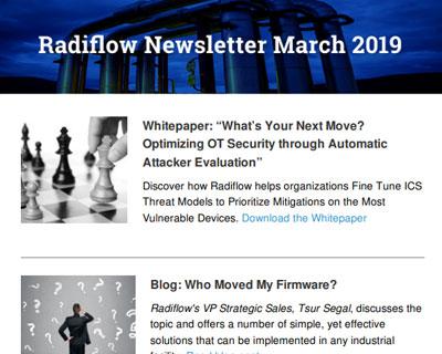 Radiflow Newsletter, March 2019