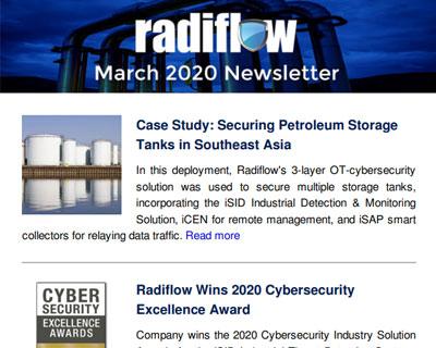 Radiflow Newsletter, March 2020