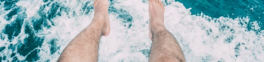 Someone with hairy legs.