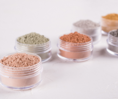 Kaolin clay in different colors.