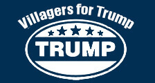 villagers for trump logo