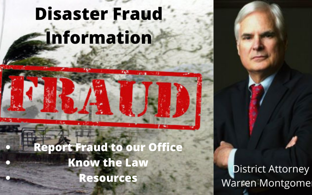 Disaster Fraud Information