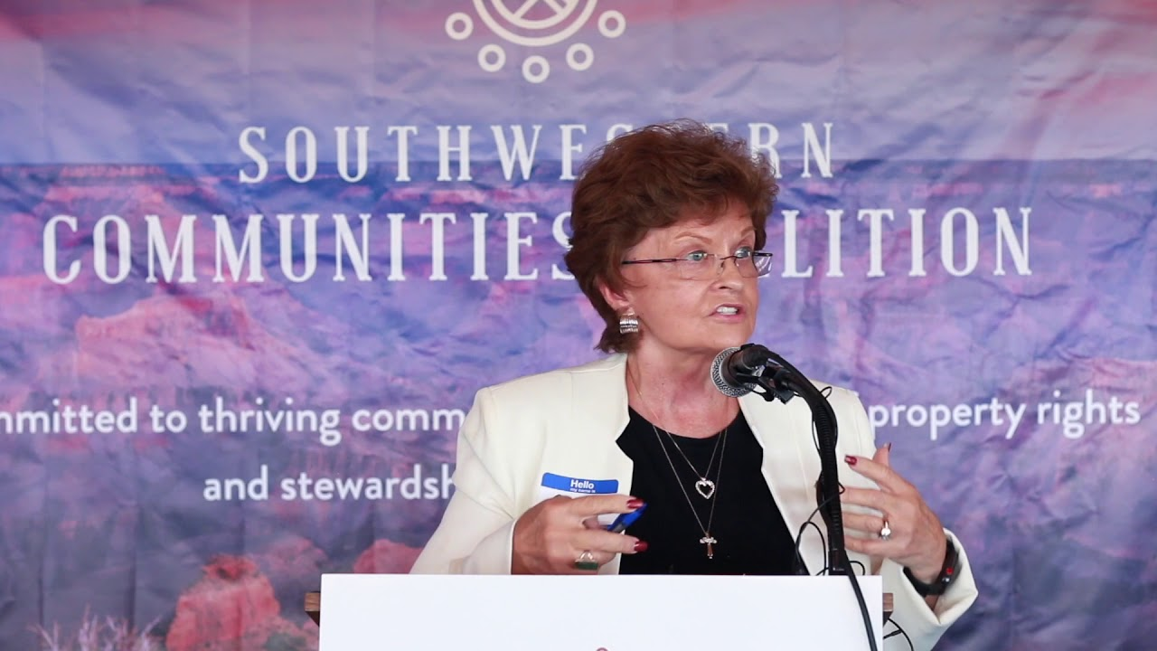 Arizona State Representative Gail Griffin Speaks at Southwestern Communities Coalition Event