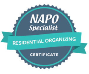 NAPO Specialist Certificate – Residential Organizing issued by NAPO to Patricia DePalma