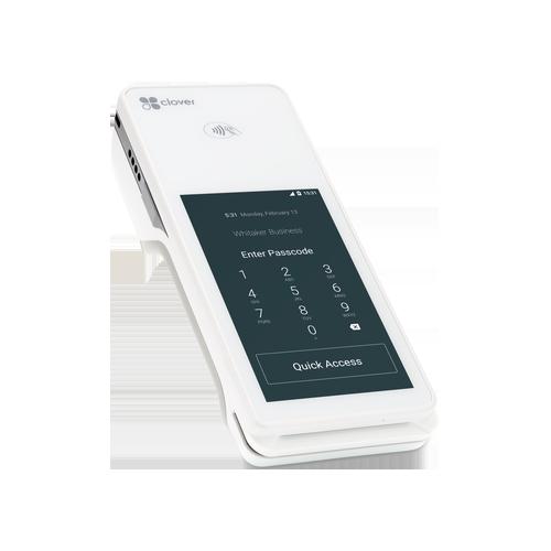 Clover Flex payment terminal login screen