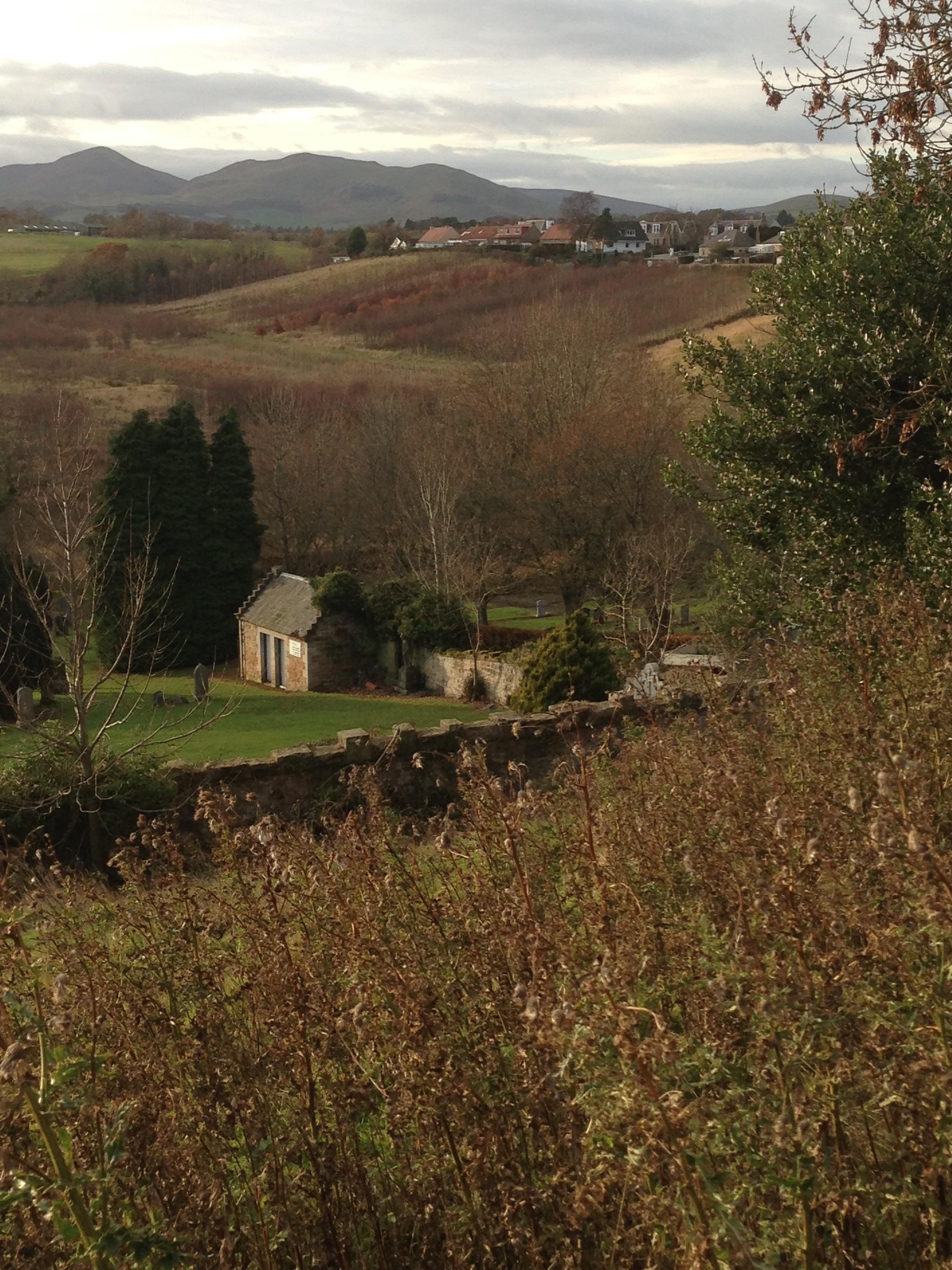 Landscape outside of Rosslyn Chapel