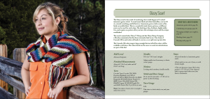 Final cover spread for a pattern - the Dizzy scarf