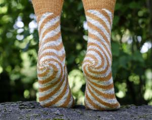 "Oaks Park -The sock that makes knitters go ""oooh"""