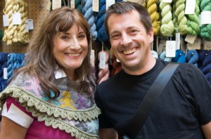 """Anne and Daniel Yuhas - friend, knitting teacher, author of """"Knitting from the Center Out"""" and oh yes, Radar's dad!"""