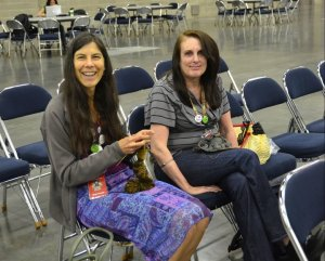 Stephanie and Val at Sock Summit 2011
