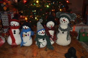 The year we made felted Christmas toys.