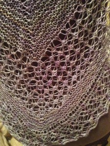 Rock Island shawl - close up of the Shetland lace