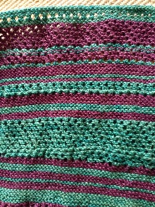 """""""Off-kilter"""", coming off the needles."""