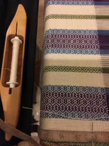 Weaving is going well!  I am having such fun with this project.