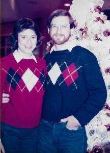 Anne and Bill Berk, Christmas 1984
