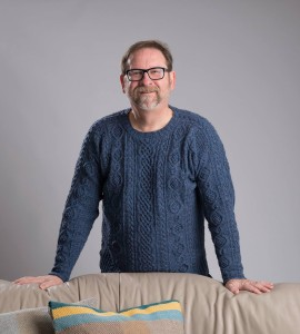 Duxbury Point pullover, from Simply Shetland 4, modeled by Bill Berk
