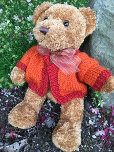 Teddy Bear Sweater - finishing fun!