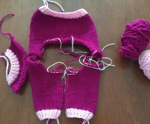 Homework for Teddy Bear Finishing class. Yarn: Cascade 220