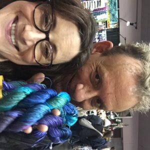StephenBe picking out yarn for me (!) at Stitches West 2016