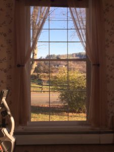View of Vermont through one of Donna's windows