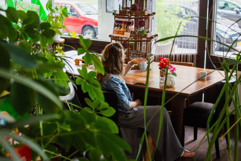 Women drinking tea and sober curious
