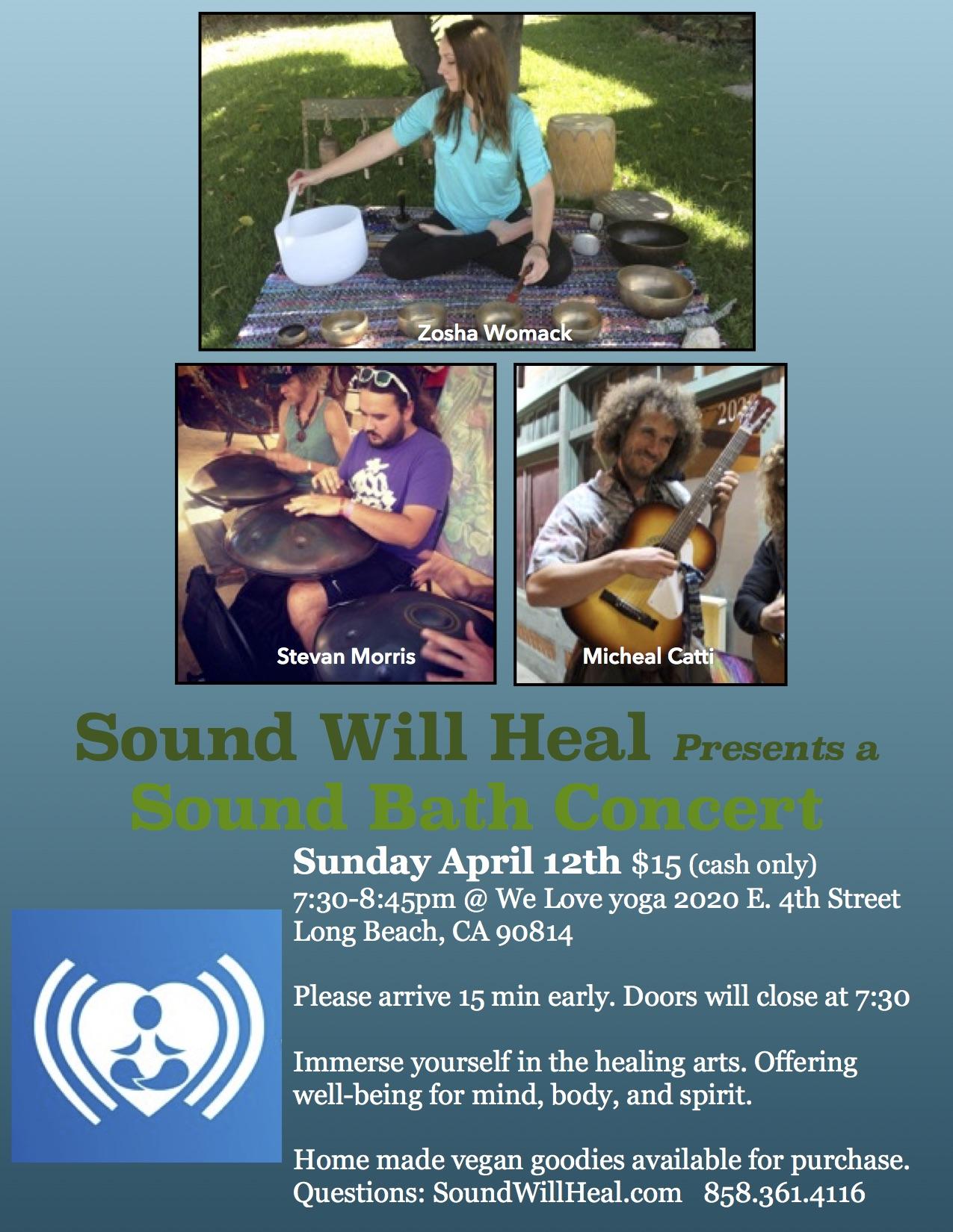 april 12 sound bath