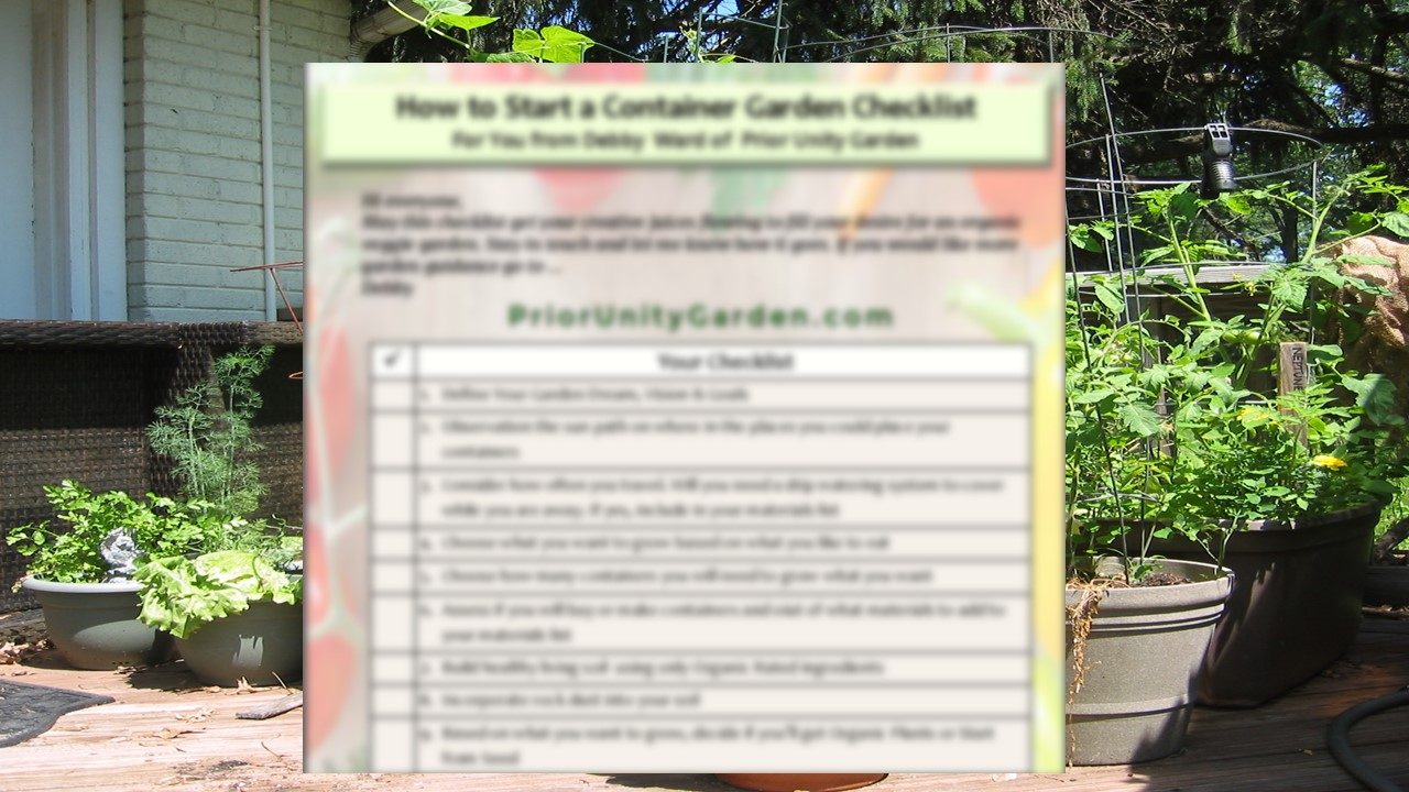 how to start container garden checklist image for techable 1