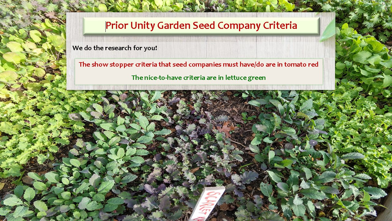 how to evaluate a seed company