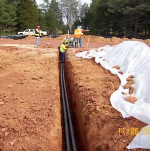Dulles site construction