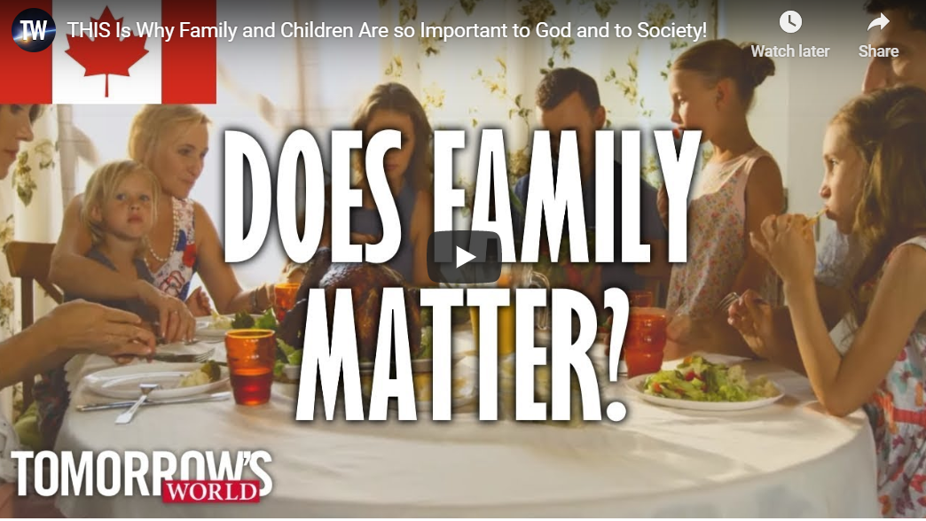 THIS Is Why Family and Children Are so Important to God and to Society!