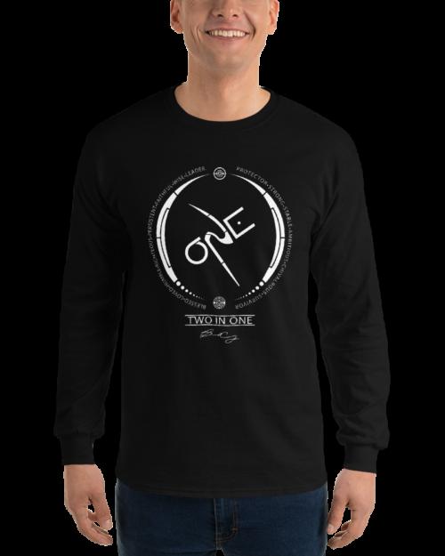 Men's Black Long-Sleeve Shirt