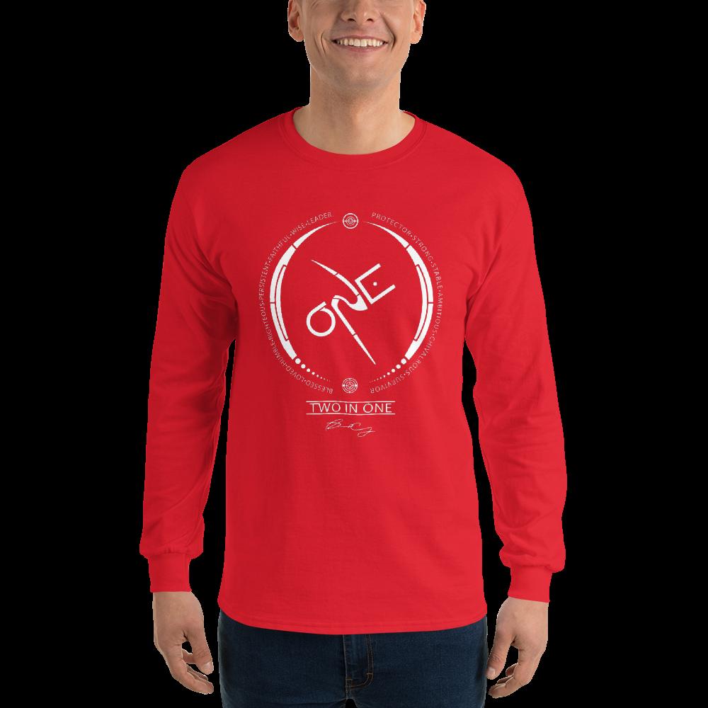 Men's Red Long Sleeve Shirt