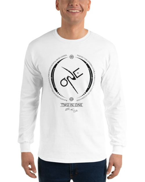 Men's White Long-Sleeve Shirt