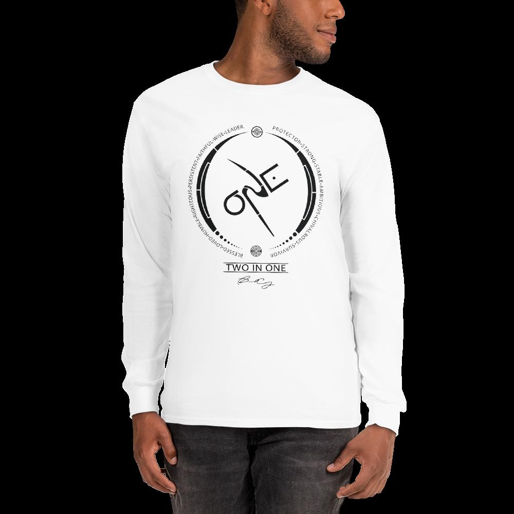 Men's White Long-Sleeve Shirt