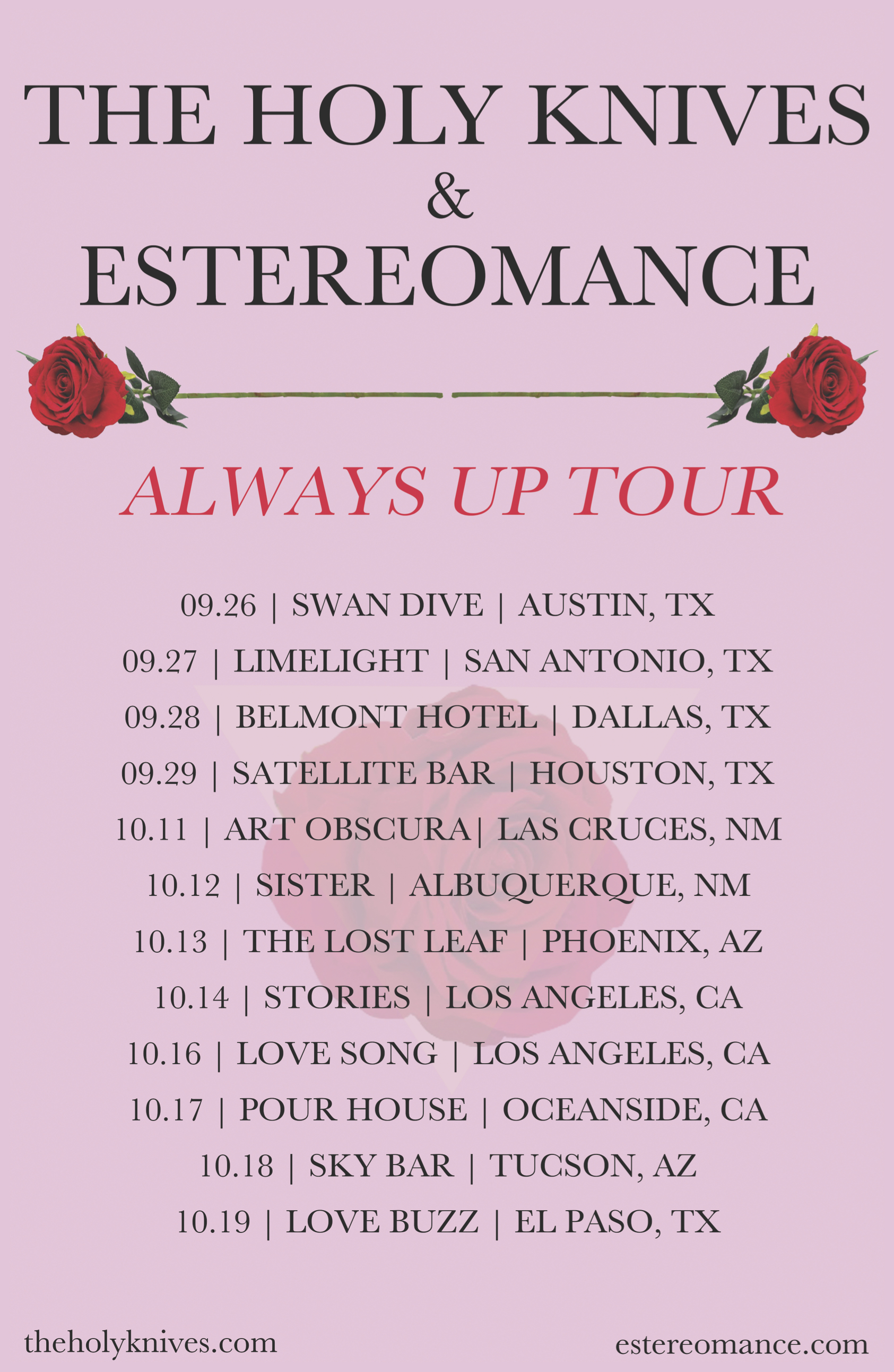 The Holy Knives + Estereomance Tour Poster for print1 (4)