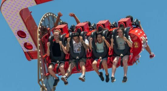 All new on the RCSFUN Midway, #callmetitan is a ride like never before! over 17 stories high with speeds of over 65 mph.