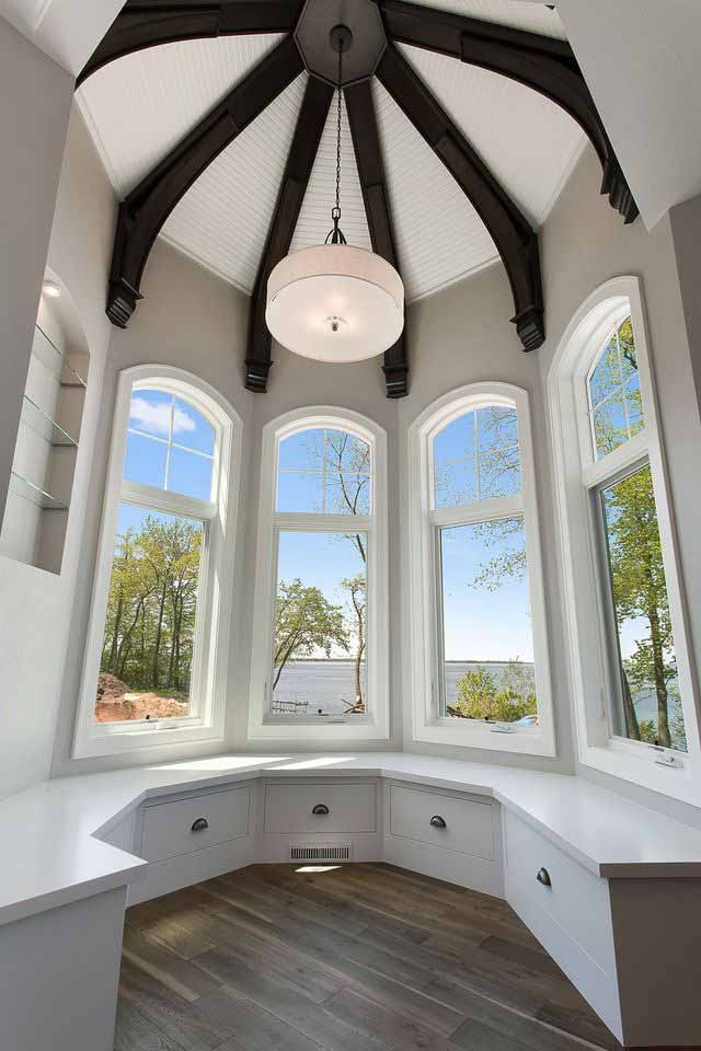 Circular Room in a Custom Built Home in the Fox Cities