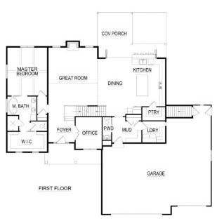 Fox Cities, WI Parade of Homes first floor plan home built by Virtue Homes.