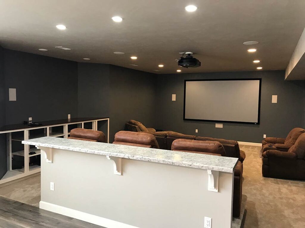 Finished Basement with Home Theater in the Fox Cities