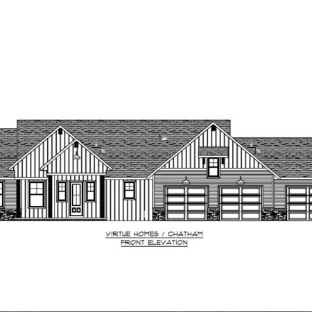 Chatham Floor Plan - Front Elevation - Virtue Homes
