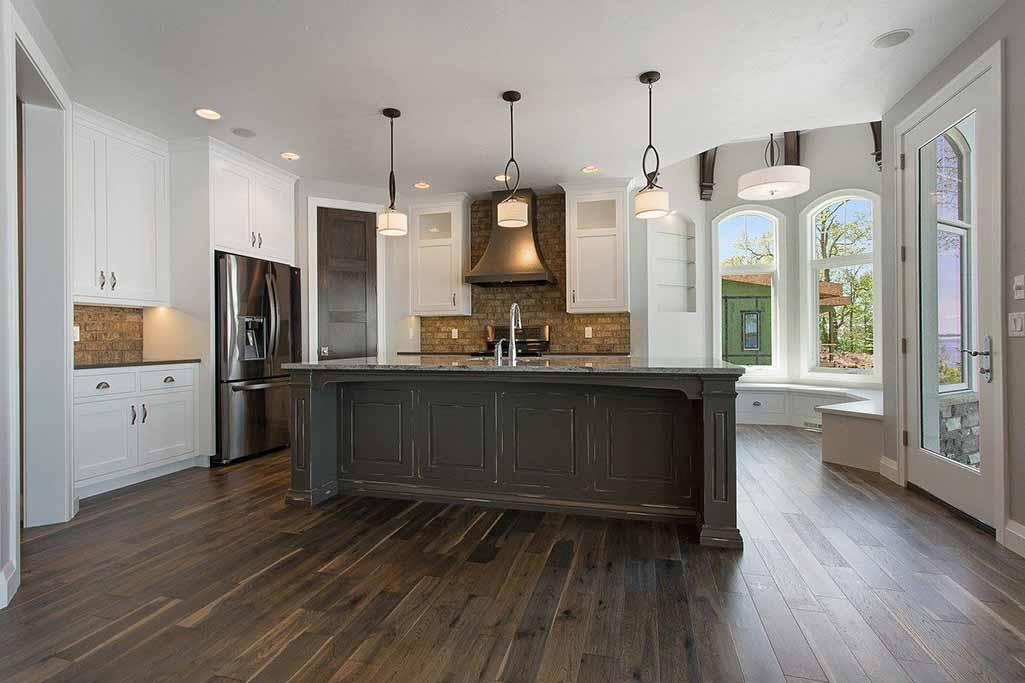 Custom kitchen in new home built by Virtue Homes custom home builders..