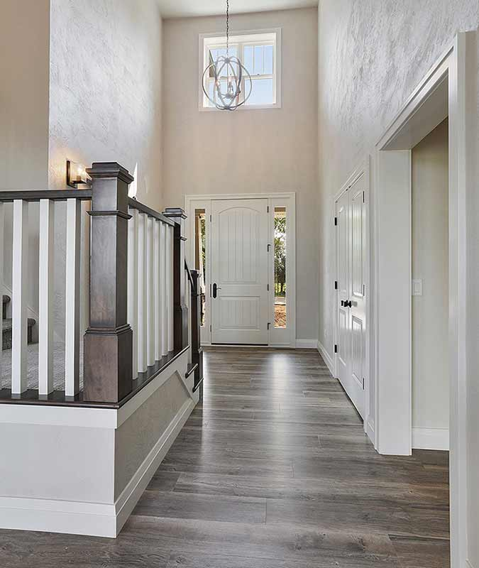 Entryway of a Custom Home Built in the Fox Cities