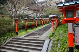 Mount Kurama steps in Japan