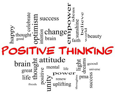 positive thought word cloud