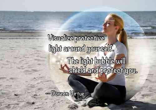 energy protection bubble of light