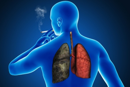 smokers lungs before hypnosis to quit smoking