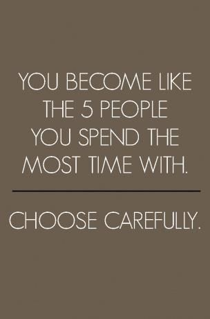5 people who surround you