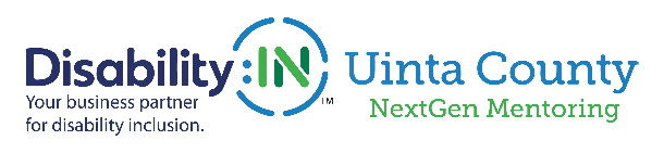 Disability:IN Uinta County and NextGen Mentoring logo